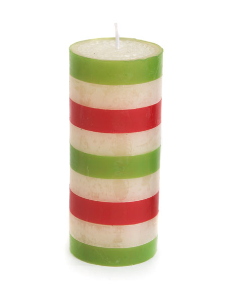 Bands Pillar Candle, 6""