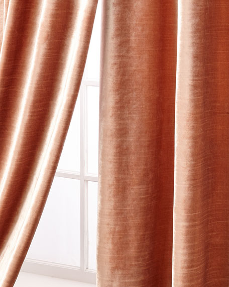 """Geode Velvet Curtain Panel, 96"""""""