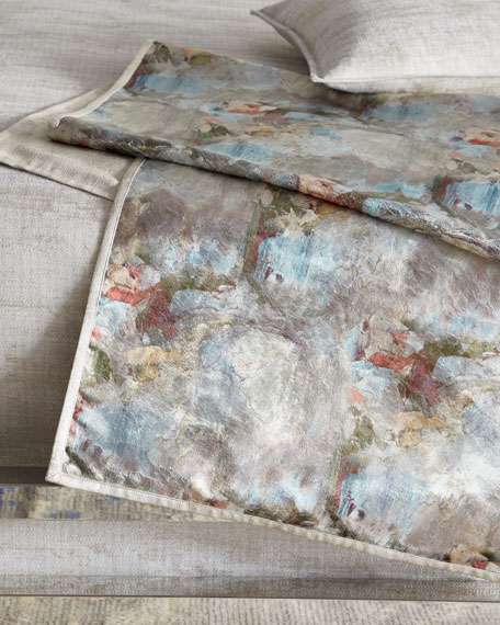 Crazy Monet King Bed Scarf