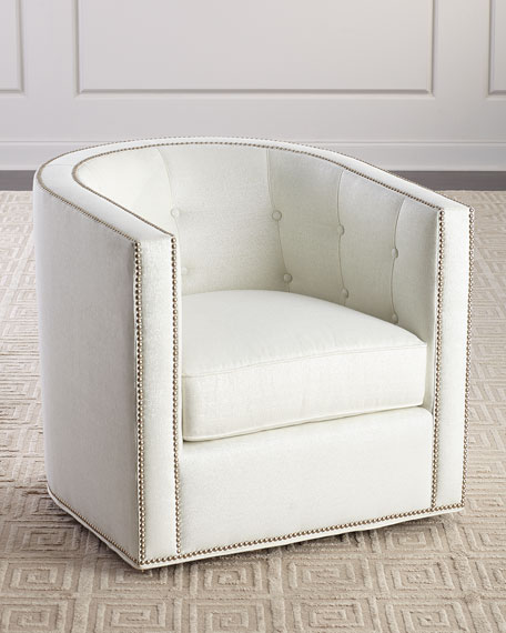 Meghan Tufted Swivel Chair