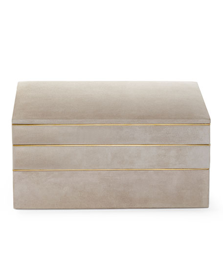 AERIN Valentina Suede Stacked Jewelry Box
