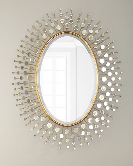 Gold Sun Ray Mirror