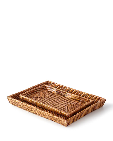 Pigeon and Poodle Dalton Rattan Nested Trays
