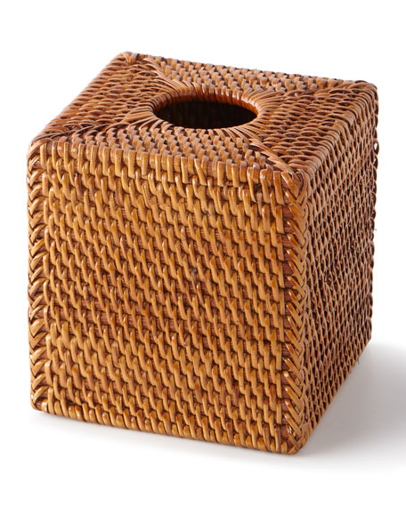 Pigeon and Poodle Dalton Rattan Tissue Box Cover