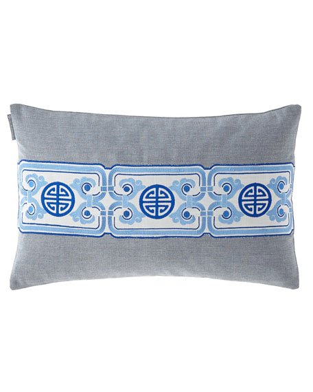 Oriental Chain Small Rectangle Pillow