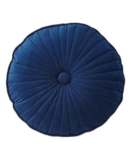 Quilted Velvet Round Pillow