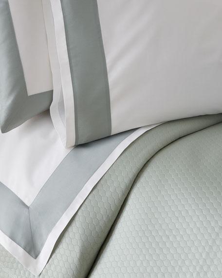 Modern Sateen Applique Full/Queen Flat Sheet