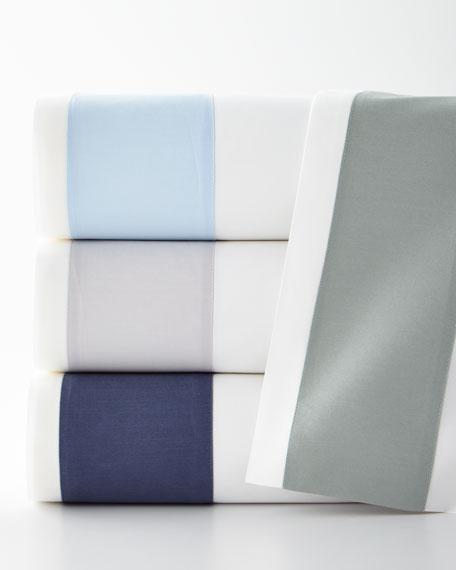 Modern Sateen Applique King Flat Sheet