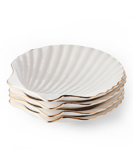 Shell Appetizer Plates, Set of 4