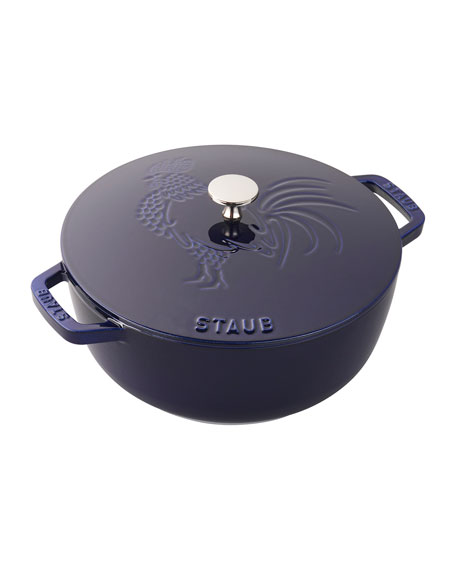 3.75-Qt. Essential French Oven Rooster with Lid, Dark Blue