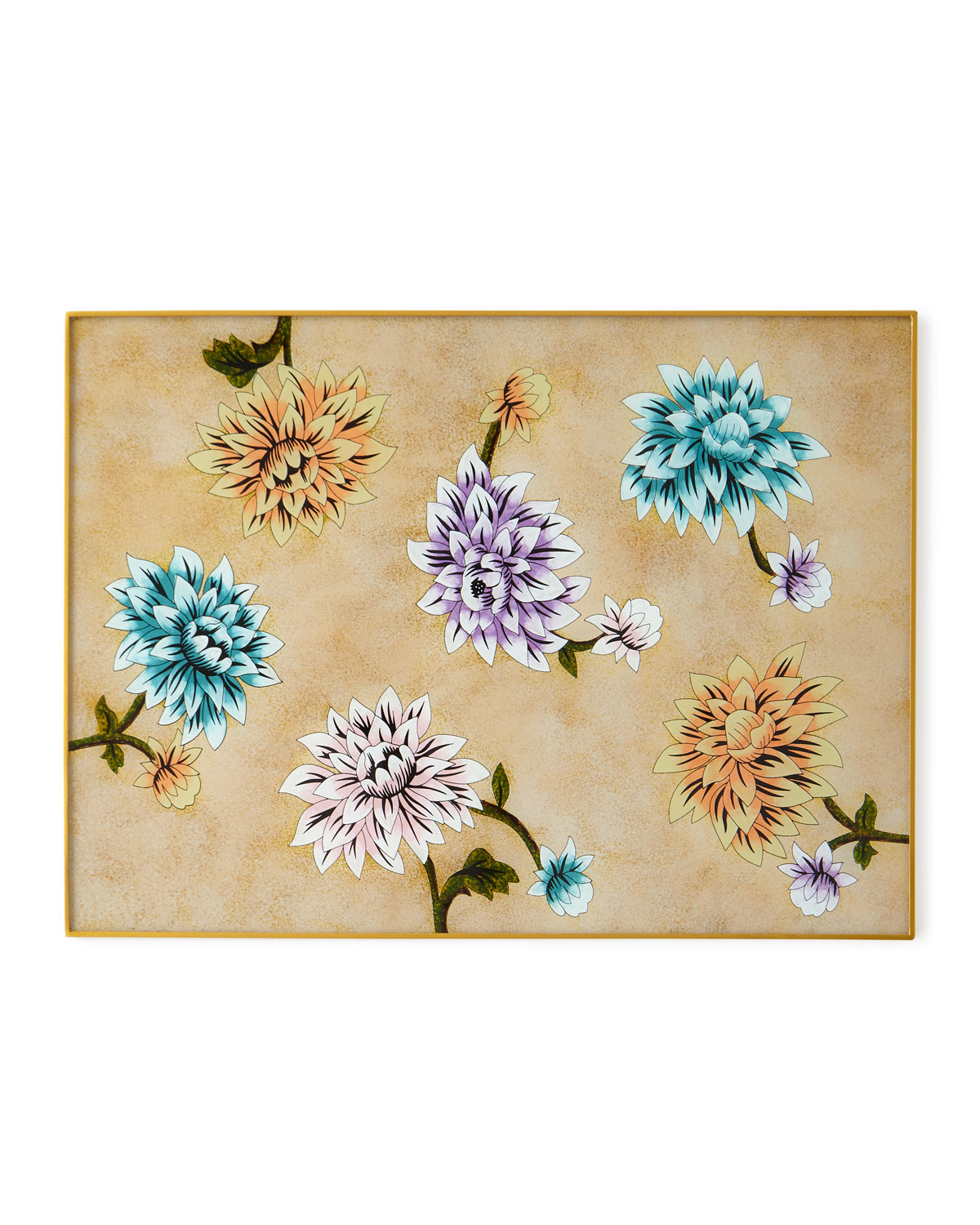 Nomi Kelegant Colored Flower Painted Mirror Placemat