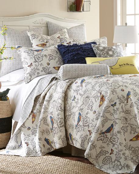 Mockingbird Linen Pillow