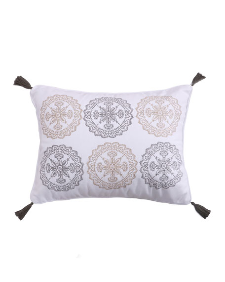 Caslon Medallions Pillow with Tassels