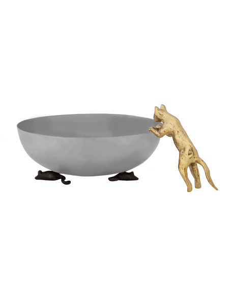 Michael Aram Cat and Mouse Dish