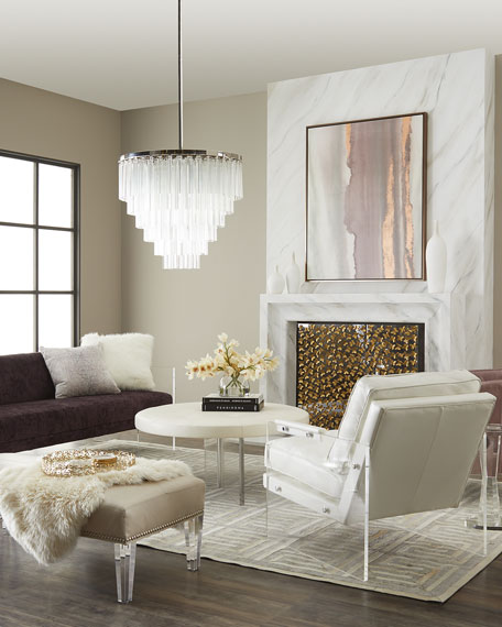 "Mystic Acrylic Sofa, 83"""