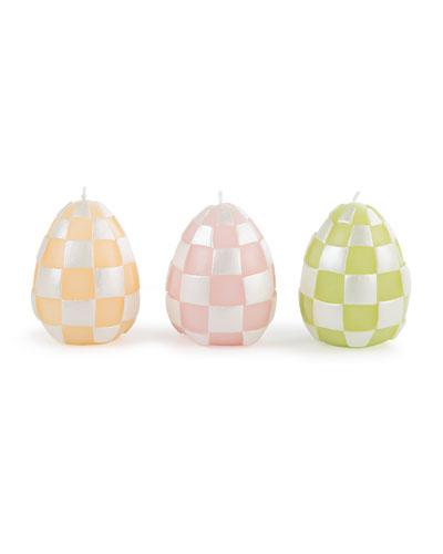 Egg Candles, Set of 3