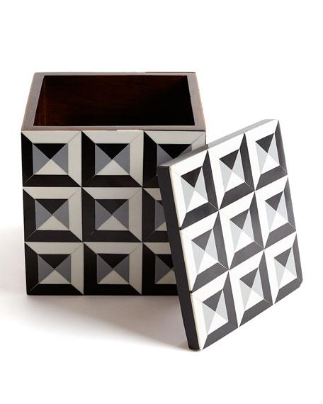 Large Deco Border Square Box