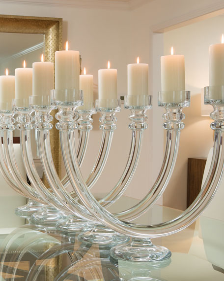 Two Lite Glass Tube Candle Holder