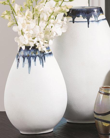 Large Glass Drip Vase