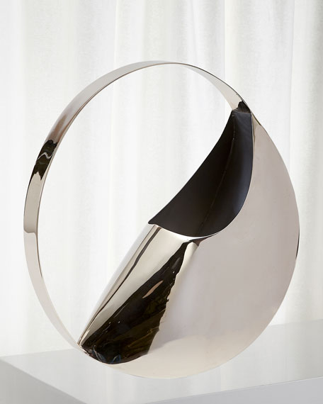 Global Views Large Cleopatra Metal Vase