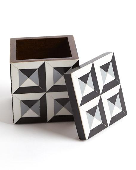 Small Deco Border Square Box