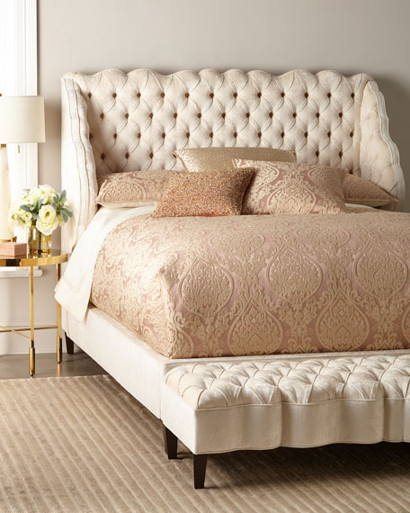 Haute House Madelena Wingback Queen Bed