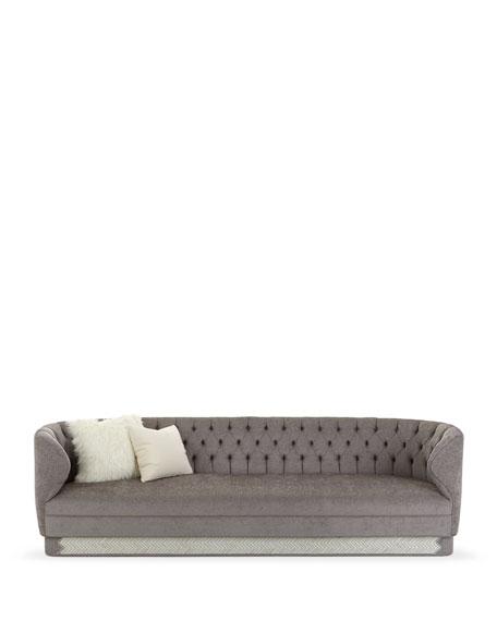 "Fleche Tufted Sofa, 110"""