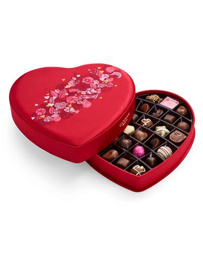 37-Piece Large Fabric Heart Chocolate Box