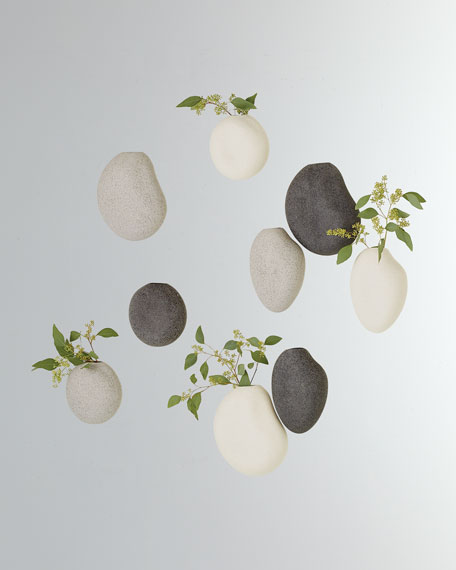 Pebble Wall Vases, Set of 3