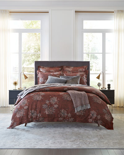 Stamped Floral Full/Queen Duvet Cover