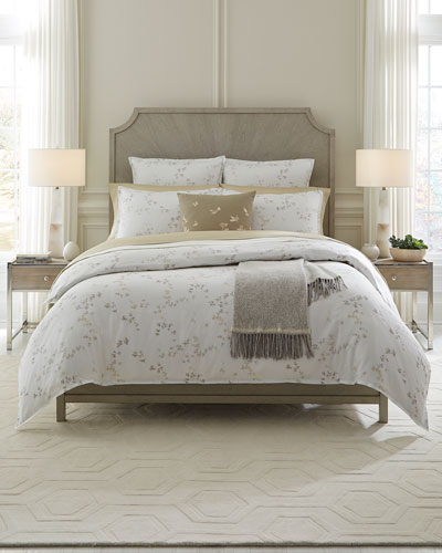 Floral Herringbone Full/Queen Duvet Cover