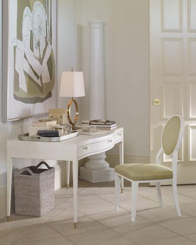 Monroe Faux-Shagreen Writing Desk