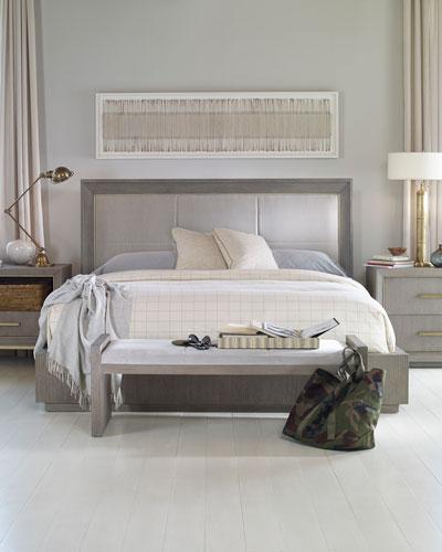 Kendall Velvet Upholstered King Bed