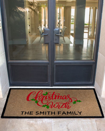 Personalized Merry Christmas Doormat, 3' x 5'