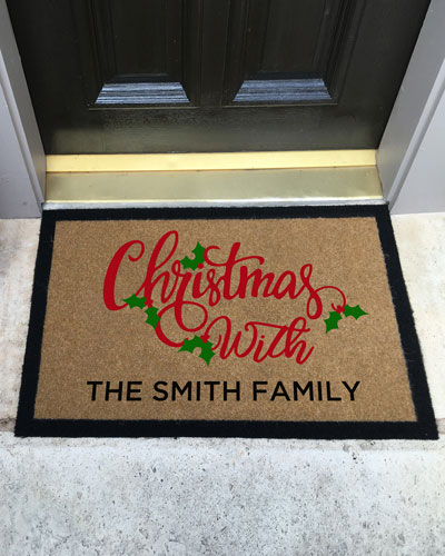 Personalized Merry Christmas Doormat, 2' x 3'