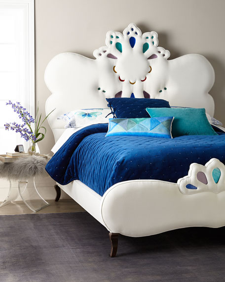 Haute House Elaina Stained Glass Queen Bed