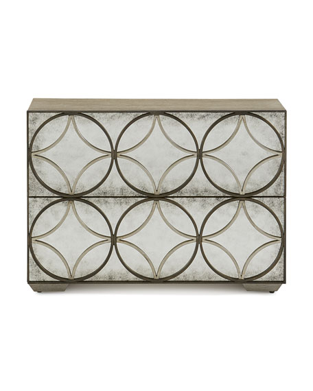 Valonia Antiqued Mirrored Chest