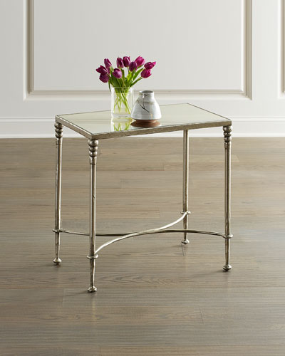 Orleans Silver Leaf End Table