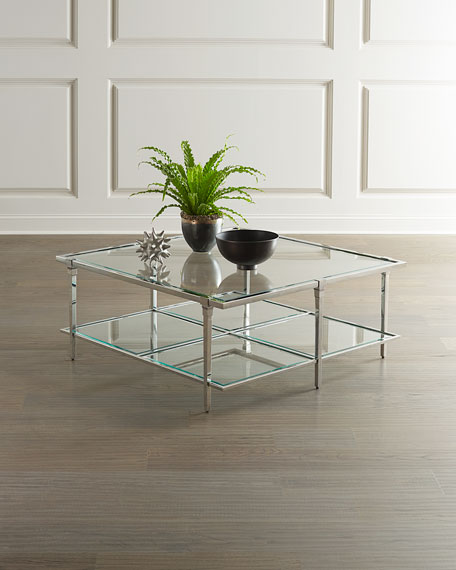 Bernhardt Napier Square Glass Coffee Table