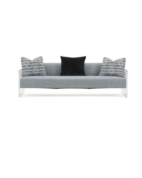 "Phoenix Acrylic Sofa, 83"""