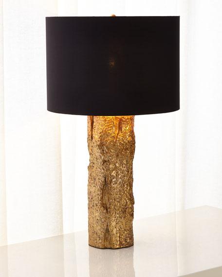 Gold Bark Table Lamp