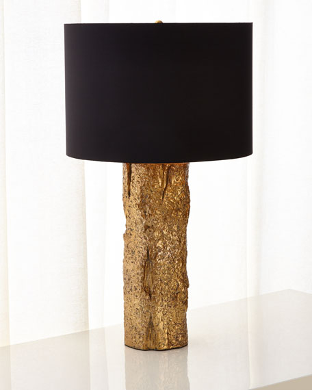 Gold Bark Table Lamp