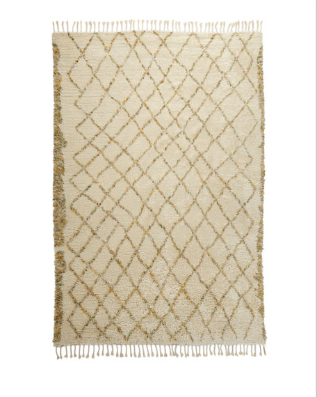 Sachi Hand-Knotted Shag Rug, 9' x 12'