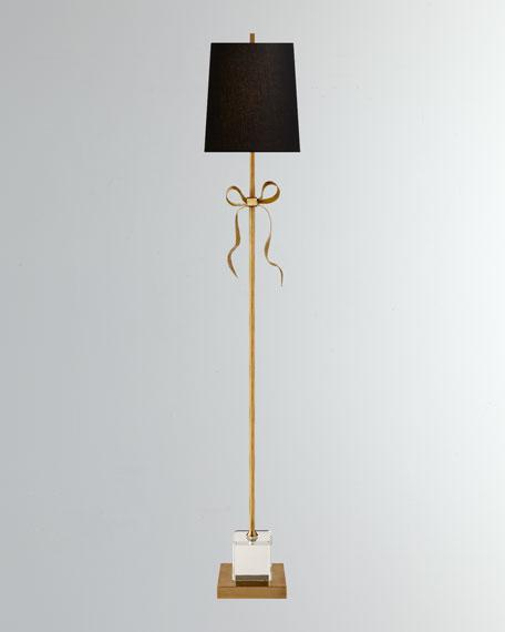 Visual Comfort Ellery Grosgrain Bow Floor Lamp