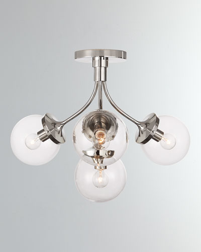 Prescott Medium Semi Flush Mount