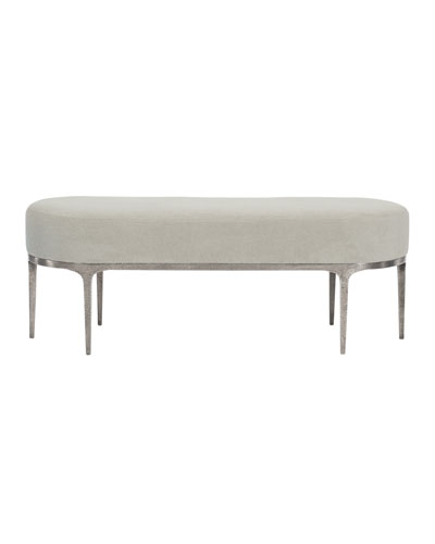 Linea Metal & Upholstered Bench