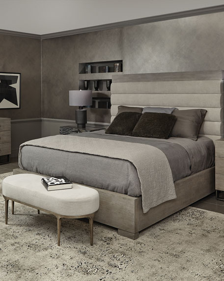 Linea Channel-Tufted Queen Bed