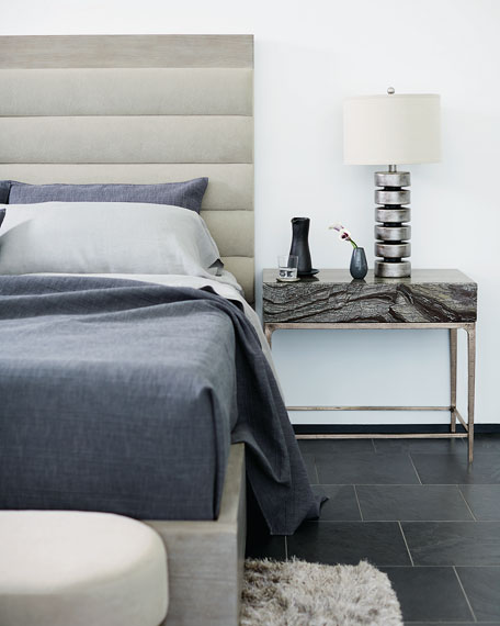 Linea Black Forest Marble Night Stand