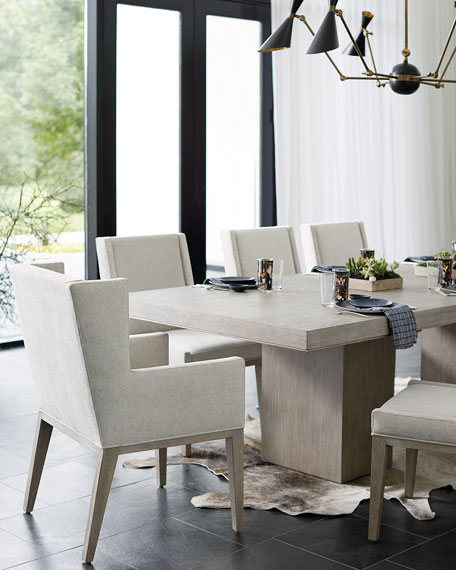 Linea Double Pedestal Dining Table