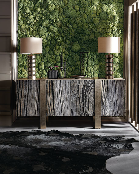 Linea Black Forest Marble Console
